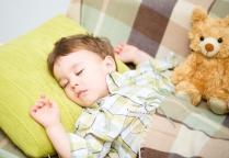 Cute little boy is sleeping
